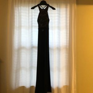 Black fitted formal dress